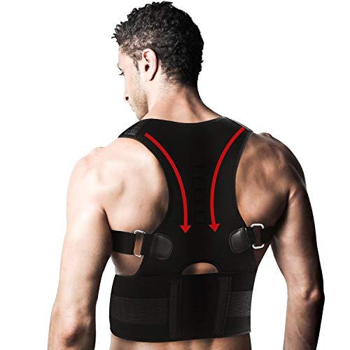 AOFIT 10pcs imanes–Apoyo Lumbar para corrección de Postura y Dolor de Espalda Apoyo–Unisex, XXL, Negro, 1