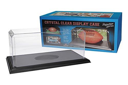 Pioneer Plastics - hochwertige Vitrine aus Acryl zum Sammeln und Verstauen eines Footballs, schwarzer Boden