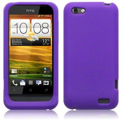 mächtig HTC 5053102309637 1V lila Silikonschutzhülle
