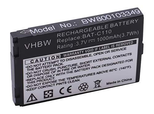vhbw Li-Ion Akku 1000mAh (3.7V) für Seniorentelefon Handy Emporia Telme C131 wie BAT-C110.