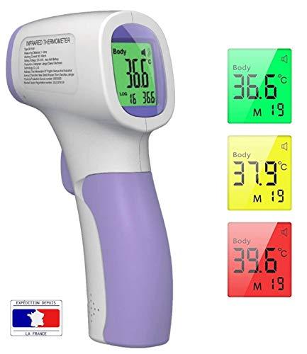 puissant Thermomètre infrarouge BenWee, thermomètre frontal, thermomètre sans contact pour adultes et enfants…