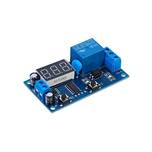 ZHITING Relé Temporizador de temporización de retardo de Ciclo Infinito de 12 V CC, módulo de Bucle de Interruptor de Encendido y Apagado con Pantalla LED