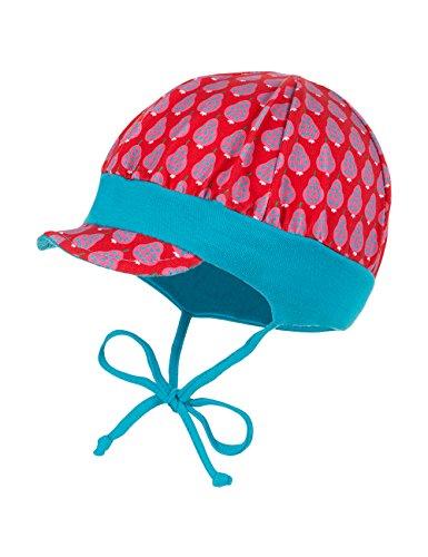maximo Baby-Mädchen Schildmütze mit Bund Mütze, Mehrfarbig (rot-Birnen 50), 41 cm