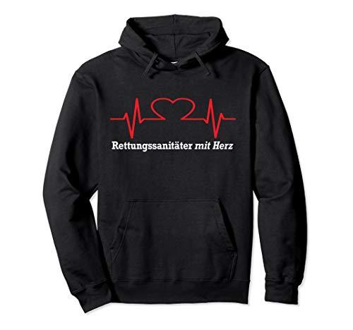 Rettungssanitäter mit Herz Rettungsdienst Sanitäter Pullover Hoodie