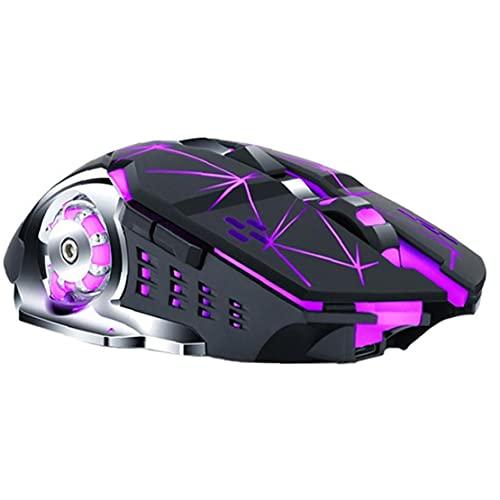 Ratón inalámbrico Mouse Q13 recargable Silent LED retroiluminado USB OPTICAL COMPUTADORA COMPUTADORA PARA JUEGOS PC Tablet Portátil Star Black Computer Accesorios