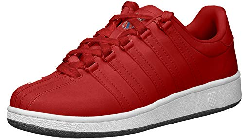 K-Swiss Zapatillas clásicas VN icónicas de moda para mujer, Rojo (rojo azul marino), 39.5 EU