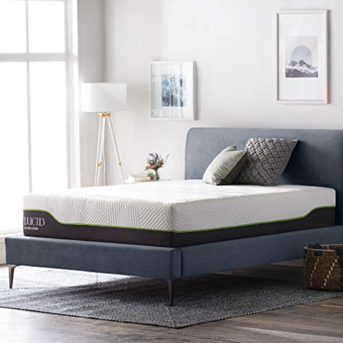 LUCID 12-Inch Latex Hybrid Mattress - Queen