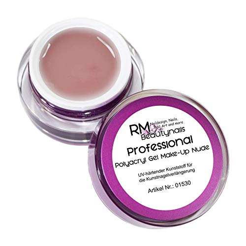 15ml Polyacryl Gel Make-Up Nude Acrylgel LED Aufbaugel Professional Line