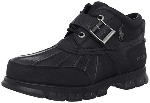 Polo Ralph Lauren Men's Dover III Hiking Boot, Black/Black, 9.5 D US