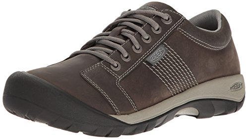 KEEN Men's Austin Hiking Shoe, Gargoyle/Neutral Gray, 12 M US