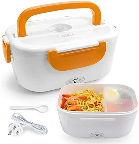 Caja de almuerzo de calefacción eléctrica, caja térmica térmica de calentador de alimentos 220V, contenedor de plástico pequeño extraíble portátil para oficina, escuela y hogar, almuerzo caliente fiam