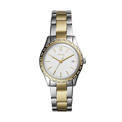 Fossil Women's Adalyn Quartz Stainless Three-Hand Watch, Color: Two-Tone Silver/Gold (Model: BQ3376)