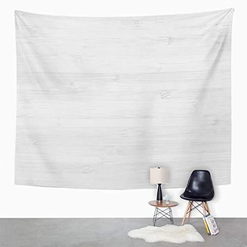 Y·JIANG Abstrakter Wandteppich, weißes Holz, Heimdekoration, großer Wandbehang, Decke für Wohnzimmer, Schlafzimmer, 127 x 152 cm