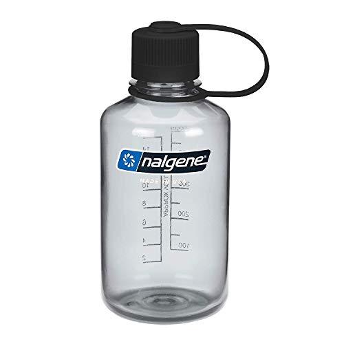 Nalgene Tritan Narrow Mouth BPA-Free Water Bottle, Gray, 16 oz