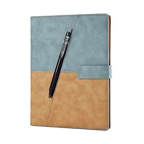 X Leder Smart Wiederverwendbare löschbareMikrowelle Wellenwolke Löschen Notizblock Notizblock mit Stift ausgekleidet