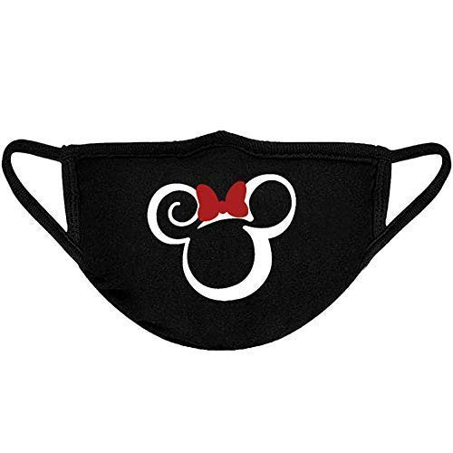 Theme Park Inspired Mickey Minnie Swirl Reusable Washable Face Mask For Kids Adults Vacation Mouth Covering