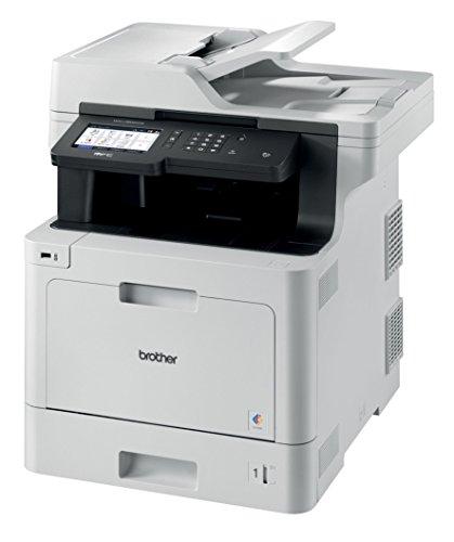 Brother MFC-L8900CDW Professionelles 4-in-1 Farblaser-Multifunktionsgerät (31 Seiten/Min., Drucker, Scanner, Kopierer, Fax) weiß/schwarz