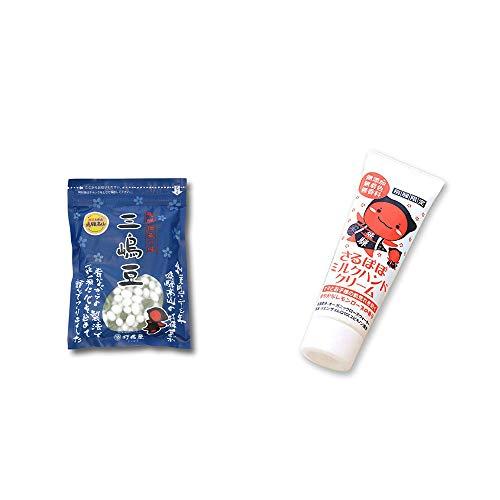 [2点セット] 飛騨 打保屋 駄菓子 三嶋豆(150g)・さるぼぼ ミルクハンドクリーム(50g)