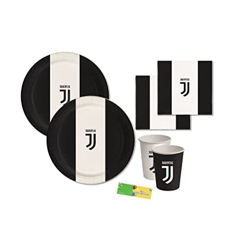 BIGIEMME Kit N 2 Coordinato Tavola F.C. Juventus Addobbi Festa Party Tifoso Juve Squadra
