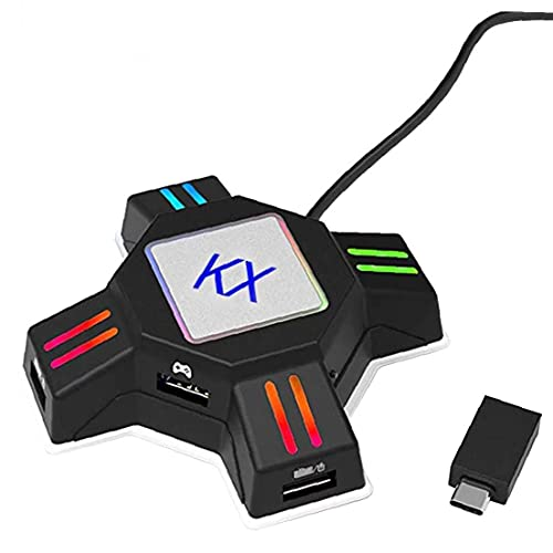 Eaarliyam Adaptador de ratón del Teclado Gamepad Controller Converter KX Converter Switch Accesorios de Juegos para PS4 PS3 Xbox Black