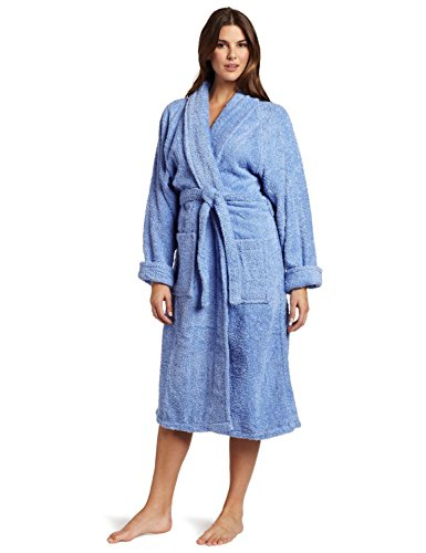 Superior – Albornoz unisex de algodón egipcio, Moderno, Azul, Extra Grande, 1