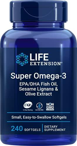 Life Extension Super Omega-3 Plus EPA/DHA Fish Oil, Sesame...
