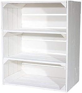 NUEVO Caja del estante con 2 Bandejas de espuma de separación Blanco de canto por Kontorei