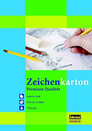50 (5x 10) Blatt Zeichenkarton / Zeichenkartonblock DIN A3 / 190g/m²