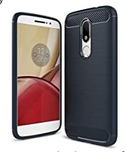 Motorola Moto M - Carbon Fiber TPU Gel Slim Lightweight Case Cover -Blue