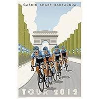 zkpzk バイクバラクーダマラソンスポーツクラシックヴィンテージレトロポスター装飾帆布絵画ホームバーポスター装飾-40X60Cmx1フレームなし