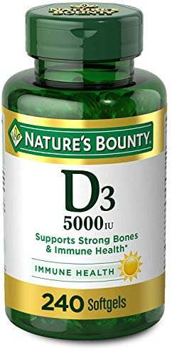 Nature's Bounty 125 mcg (5000iu), 240 Pack