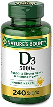 240-Count Vitamin D3 by Nature's Bounty 5000IU Rapid Release Softgels
