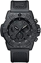 Luminox Navy Seal Mens Watch Chronograph Black Out (XS.3581.BO / 3580 Series): 200 Meter Water Resistant + Stop Watch + Ultra Light Weight Carbon Case