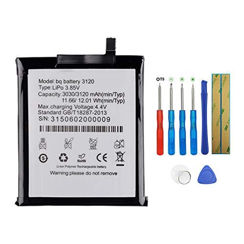 SWARK Bateria BQ 3120 Compatible con BQ Aquaris M5 Batería con herramientas