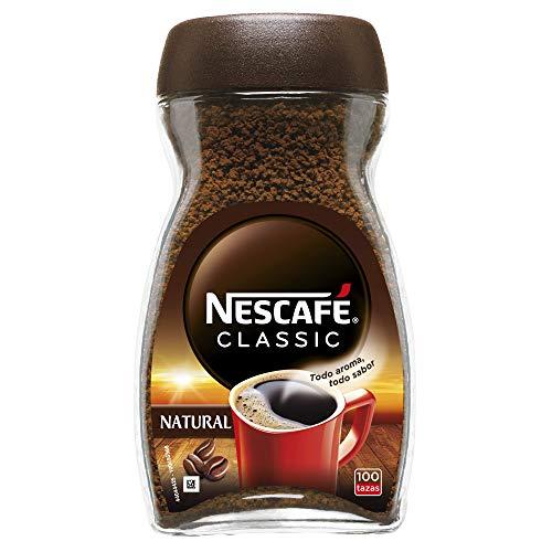 NESCAFÉ CLASSIC NATURAL todo aroma y sabor, 100 % café soluble, frasco de vidrio, 200 g