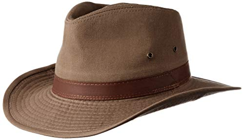 Dorfman Pacific Men's Twill Outback Hat,Bark,X-Large