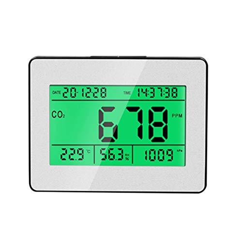 Poapo CO2-Messgerät für Innenräume, Temperatur und Relative Luftfeuchtigkeit, Kohlendioxid-Tester, Luftqualitätsmonitor für das Home Office