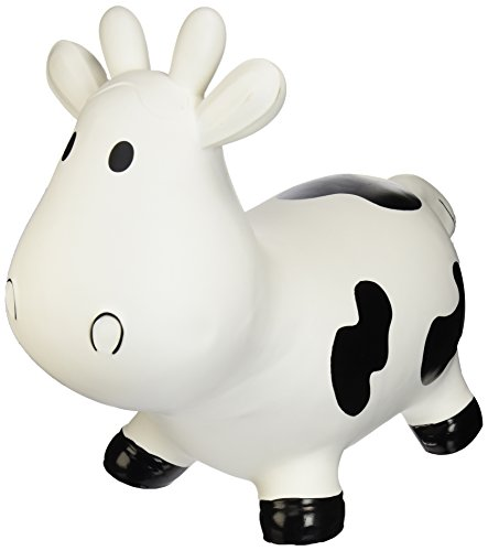 Trumpette Howdy Cow Kids Inflatable Bouncy Rubber Hopper Ride-On Toy White