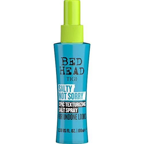 BED HEAD by TIGI - Salty Not Sorry, Espray de sal texturizador para peinados sueltos naturales, 100 ml