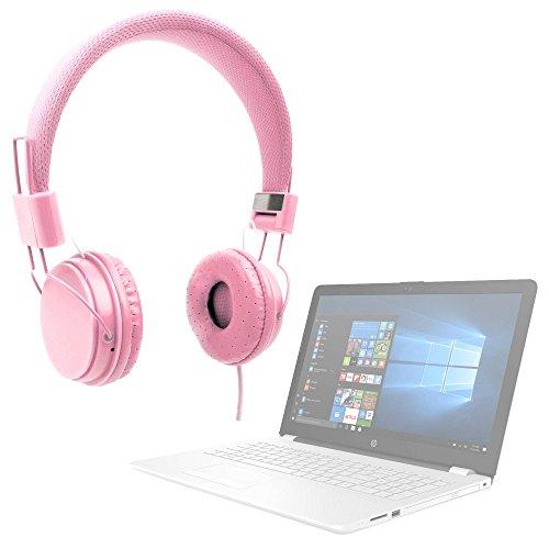 DURAGADGET Auriculares De Diadema Color Rosa para Portátil HP 15-bs040ns, HP 15-bs073ng, HP 15-bs570ng, HP 15-bs571ng, HP 15-cb070ng