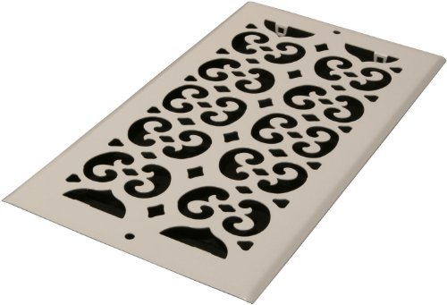Decor Grates S612R-WH 6-Inch by 12-Inch Painted Return Air, White by Decor Grates