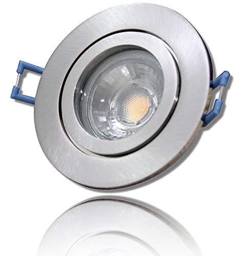 LED Bad Einbaustrahler 230V inkl. 1 x 5W LED Modul Farbe Eisen geb. IP44 LED Deckenspot Neptun Rund 4000K Einbauleuchte