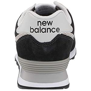 New Balance mens 574 V2 Evergreen Sneaker, Black/White/Grey, 11.5 US