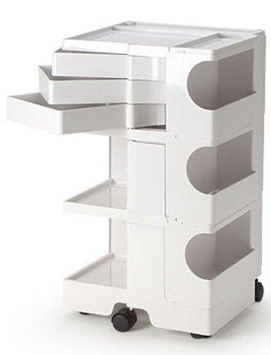 B-LINE/ビーライン ボビーワゴン3段3トレイ(ホワイト)多機能ワゴン キャスター付ワゴン インテリア家具 キッチンワゴン サイドワゴン