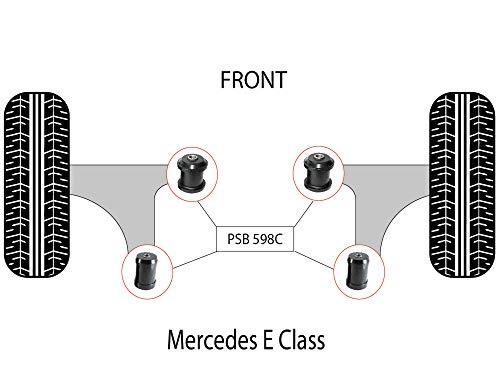 PSB - Kit completo de bujes de brazo inferior delantero delantero de poliuretano clase E W210 (96-02) -PSB598C