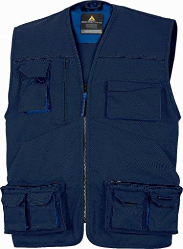 Delta Plus M2GI2BMTM Mach2 - Chaleco de trabajo (poliéster y algodón, talla M, 10 unidades), color azul marino