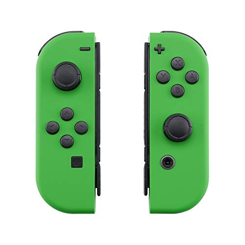 eXtremeRate Soft Touch Grip Green Joycon Handheld Controller Housing with Full Set Buttons, DIY Replacement Shell Case for Nintendo Switch Joy-Con – Console Shell NOT Included