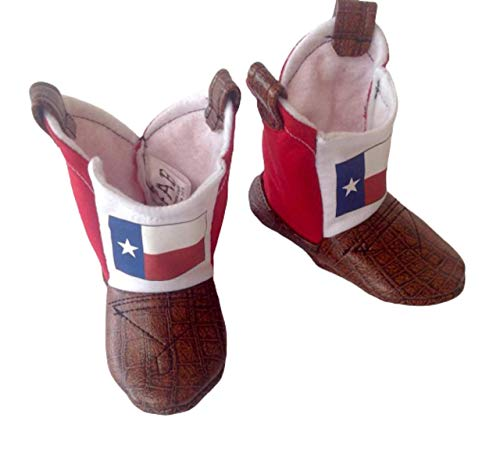 Texas Flag Baby Cowboy Boots with Leather
