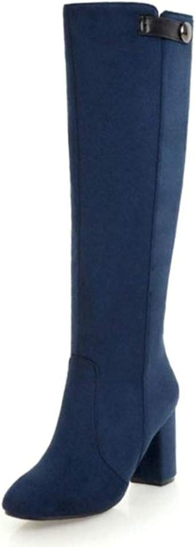 Women Winter Knee High Boots Fur Warm Fashion Long Zip Ladies Footwear shoes