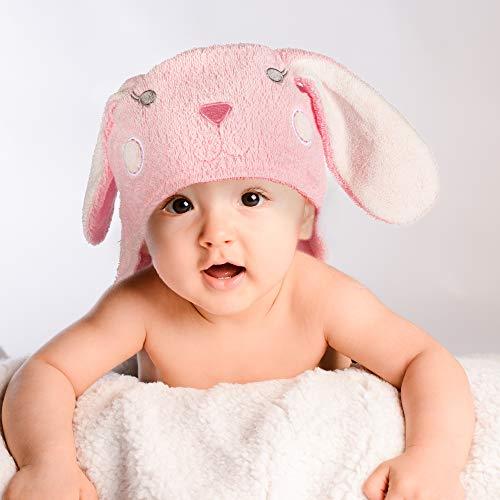Babyhandtuch mit Kapuze I Kapuzenhandtuch für Babys und Kinder 76 x76 cm I Kapuzentuch aus 100% Frottee Baumwolle - Baby Badetuch mit Kapuze - Öko-Tex 100